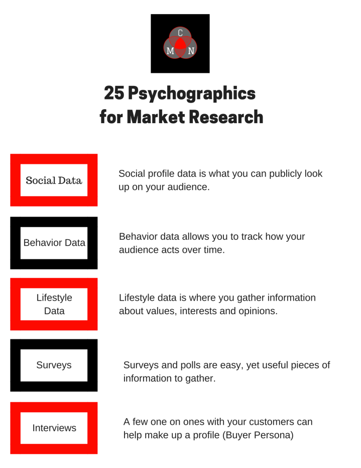 25 Psychographics for Market Research 3