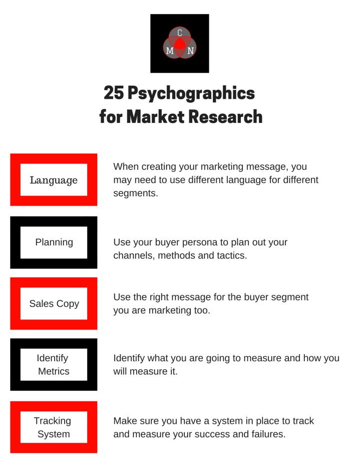 25 Psychographics for Market Research 5