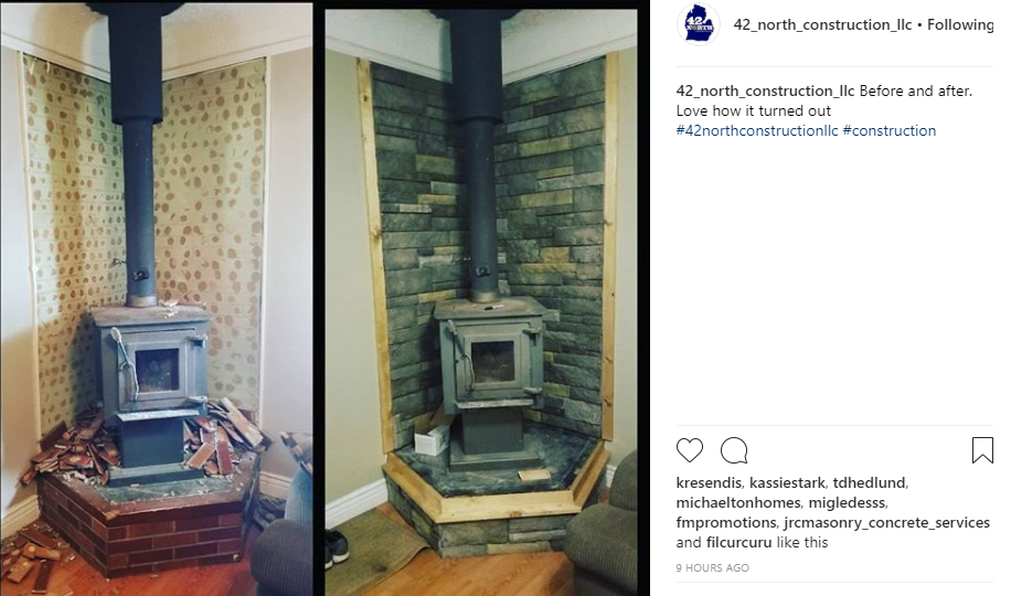 Before and Afters are always a good post for Instagram.