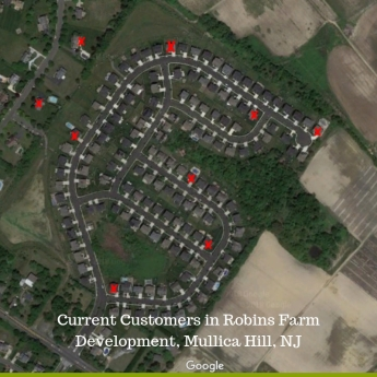 Current Customers in Robins Farm Develop