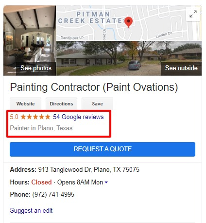 Google My Business automated review service, by Contractor marketing Network, a contractor marketing service.