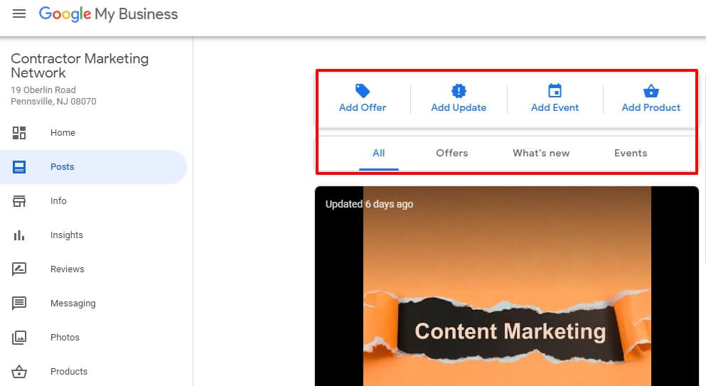 Google My Business (GMB) Post Types