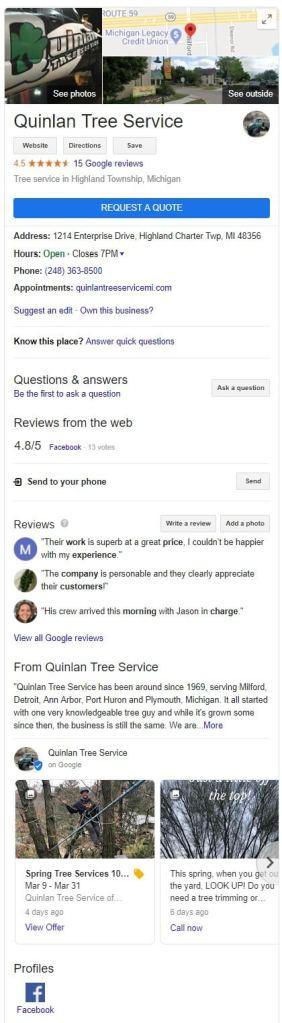 Google My Business Knowledge Panel